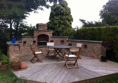 New decking Area, Brackley