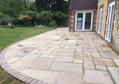 New patio, Brackley